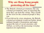 why are hong kong people protesting all the time