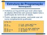 estrutura de programa o namespaces2