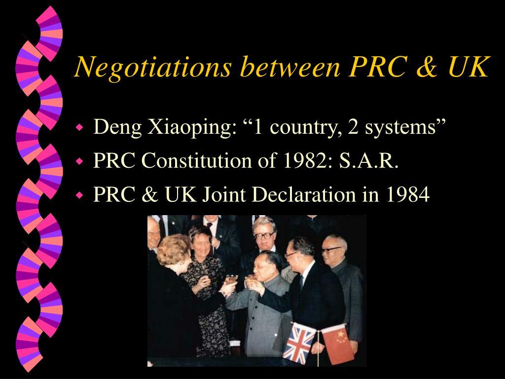 Negotiations between PRC & UK