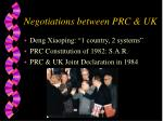 negotiations between prc uk