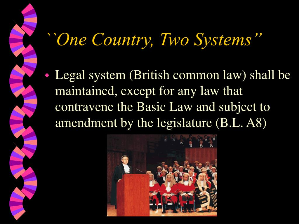 """``One Country, Two Systems"""""""