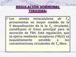 regulaci n hormonal tiroidea