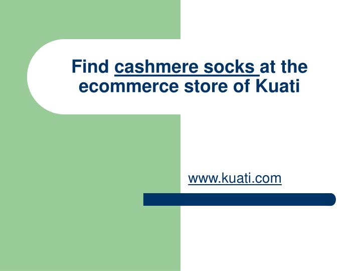 Find cashmere socks at the ecommerce store of kuati