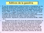 aditivos de la gasolina