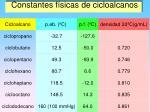 constantes f sicas de cicloalcanos