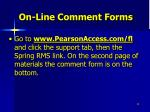 on line comment forms