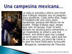 una campesina mexicana