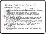 course syllabus schedule