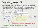 determining values of f1