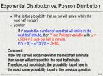 exponential distribution vs poisson distribution