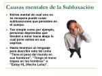 causas mentales de la subluxaci n