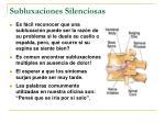 subluxaciones silenciosas