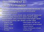 environment i policy formulation