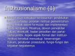 institusionalisme 1