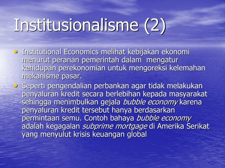 Institusionalisme (2)