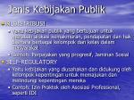 jenis kebijakan publik1