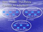 new model the policy process as a system