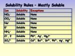 solubility rules mostly soluble
