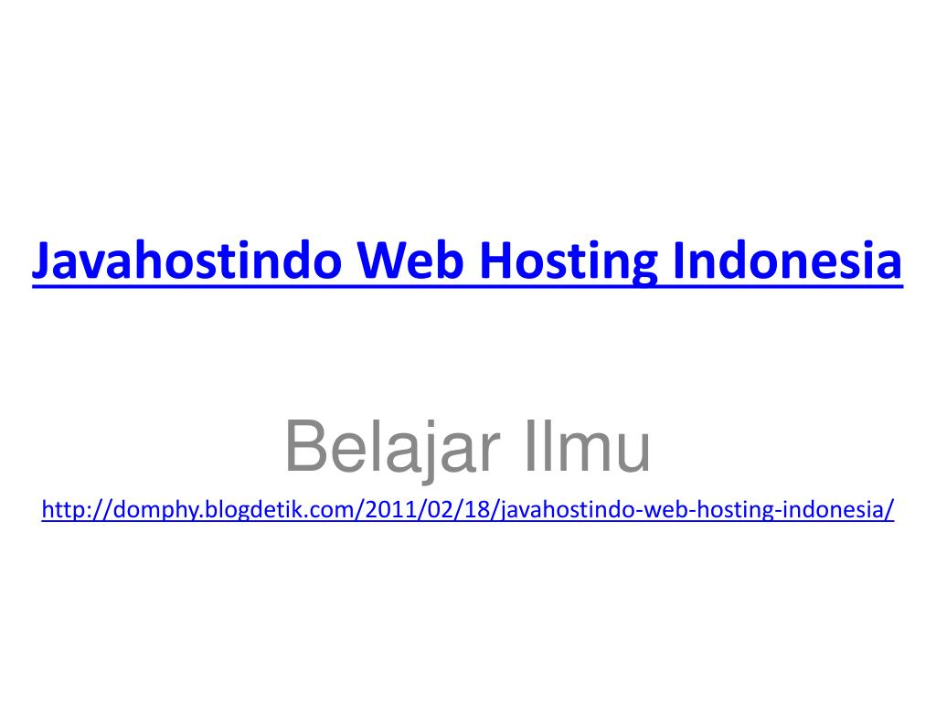 javahostindo web hosting indonesia l.