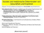 soziale und medizinische determinaten von gesundheit und krankheit6