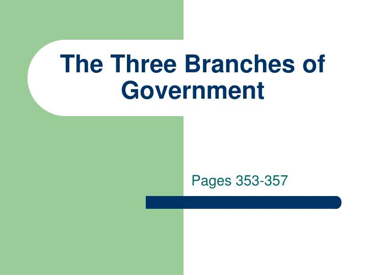 the three branches of government n.