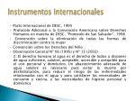 instrumentos internacionales