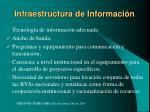 infraestructura de informaci n