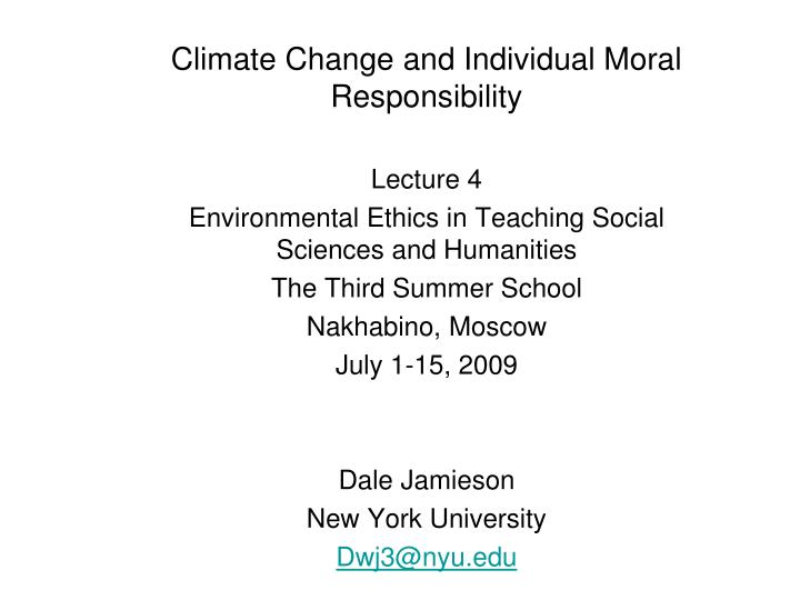 climate change and individual moral responsibility n.
