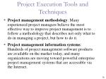 project execution tools and techniques