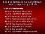f20 f29 schizofrenie schizofrenn poruchy a poruchy s bludy