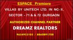 espace premiere villas by unitech ltd in nc ii sector 71 72 gurgaon