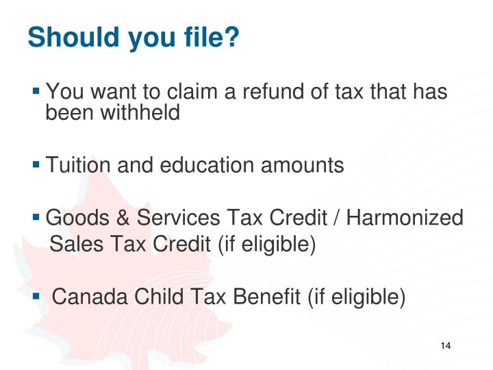 Should you file?