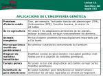 aplicacions de l enginyeria gen tica