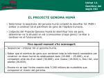 el projecte genoma hum