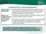 tecnologia de l adn recombinant i
