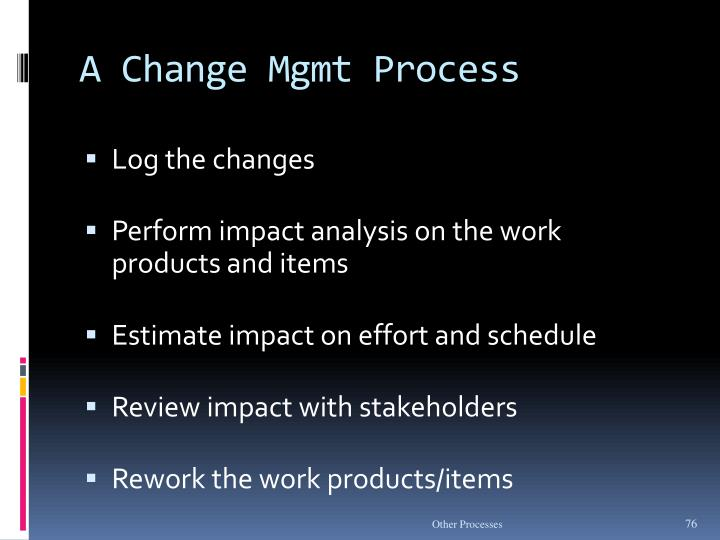 A Change Mgmt Process