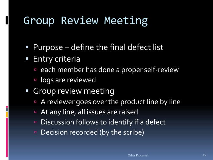 Group Review Meeting