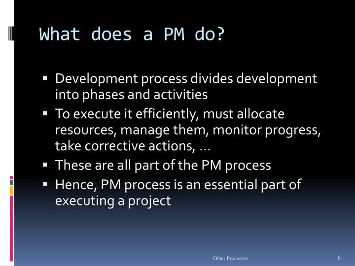 What does a PM do?