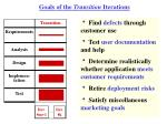 goals of the transition iterations