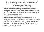 la tipolog a de heinemann y vieweger 1991