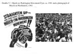 double v march on washington movement flyer ca 1941 and a photograph of march on washington 1963