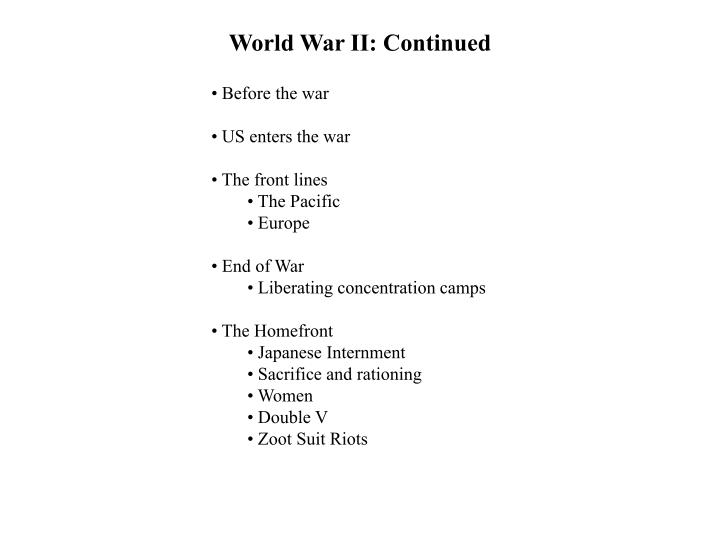 world war ii continued n.