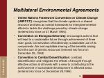 multilateral environmental agreements1