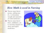how math is used in nursing