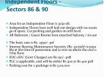independent floors sectors 86 90