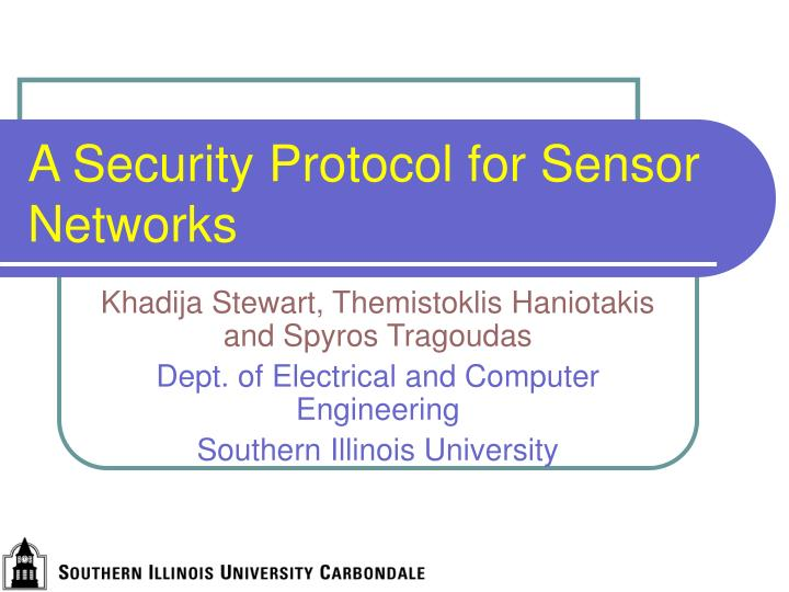 a security protocol for sensor networks n.