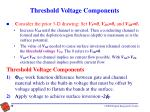 threshold voltage components