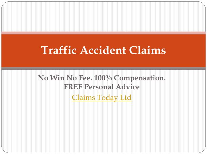 traffic accident claims n.