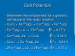 cell potential2