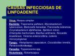causas infecciosas de linfoadenite
